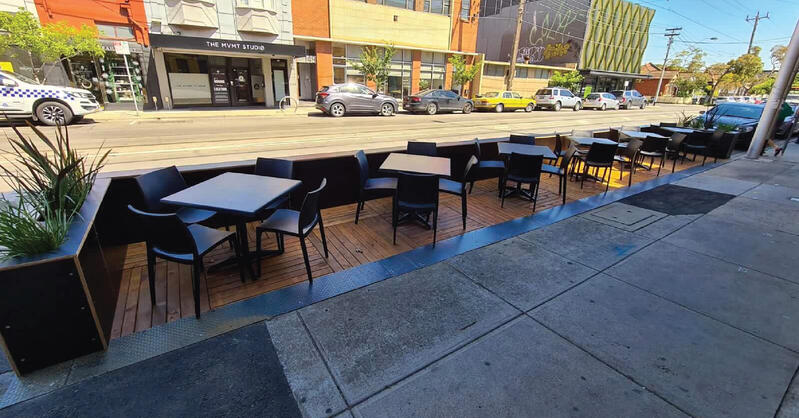 Parklet for outdoor dining