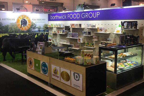 Borthwick foods offer free samples on their stand