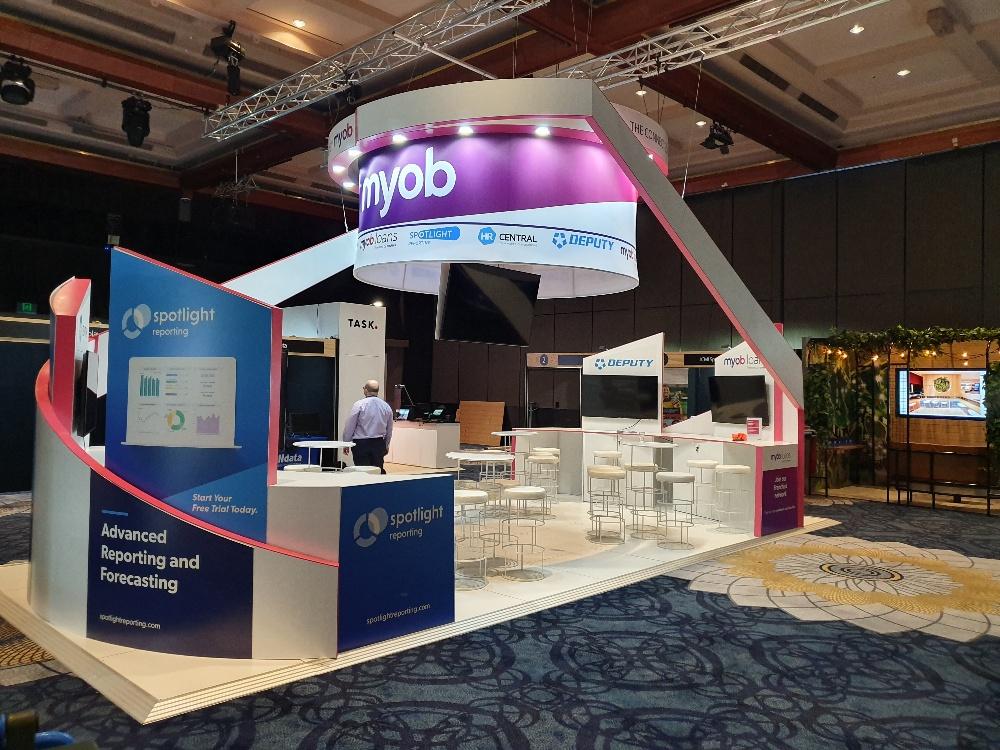 myob exhibition stand