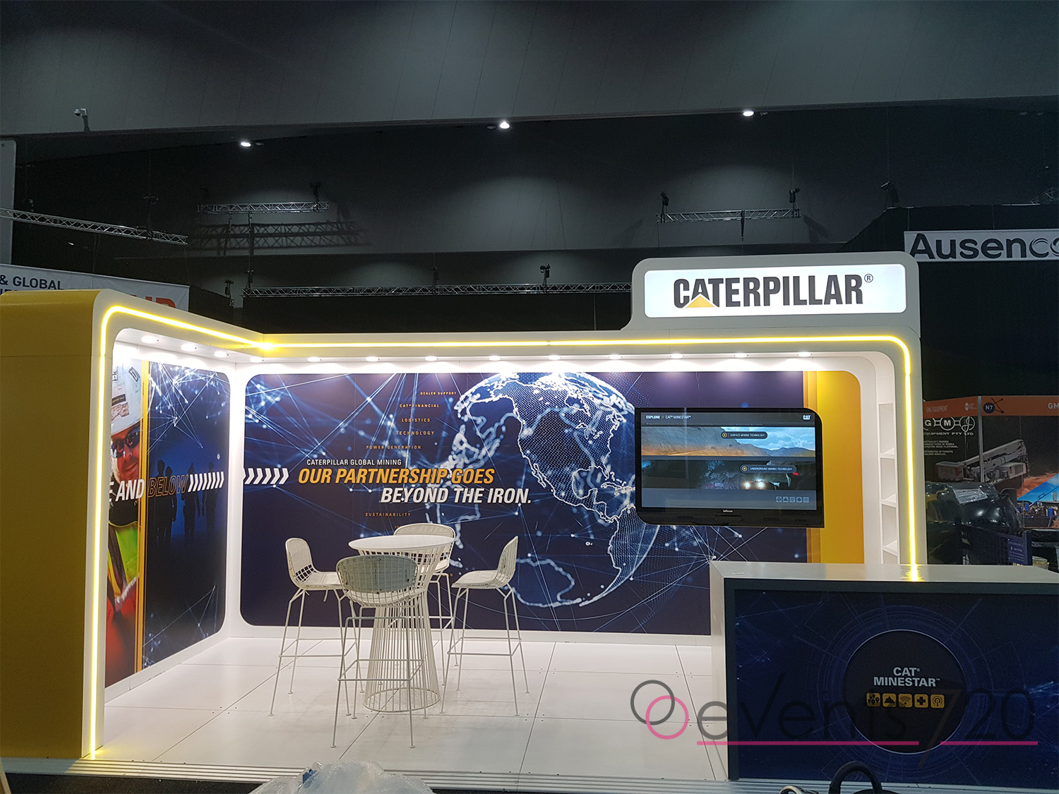 Caterpillar Exhibition Stand