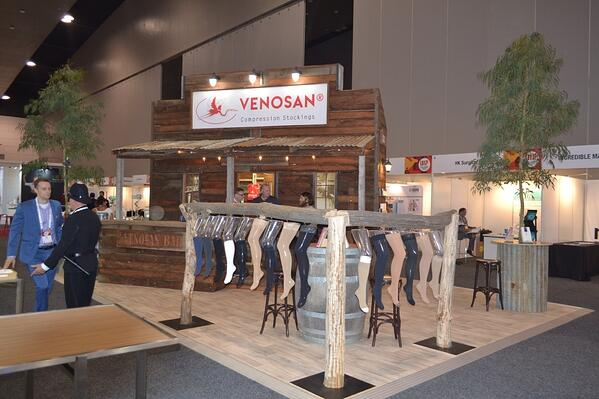 Venosan's custom exhibition stand