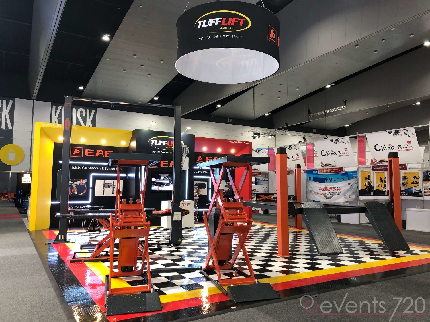 Tufflift Exhibition Stand